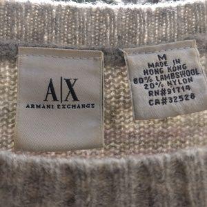 Armani Exchange sweater, lavender/ light gray.